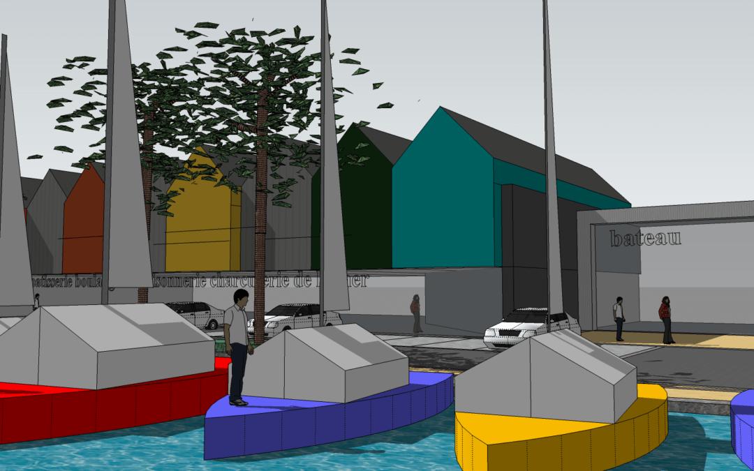 premières images de Morgat la future Venise du bout du monde